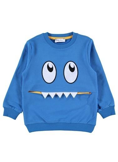 Cvl Cvl Erkek Çocuk Sweatshirt 2-5 Yaş Koyu Mavi Cvl Erkek Çocuk Sweatshirt 2-5 Yaş Koyu Mavi Renkli